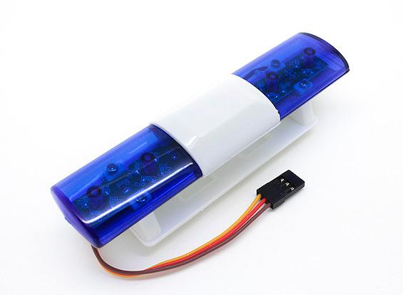 blue police lights