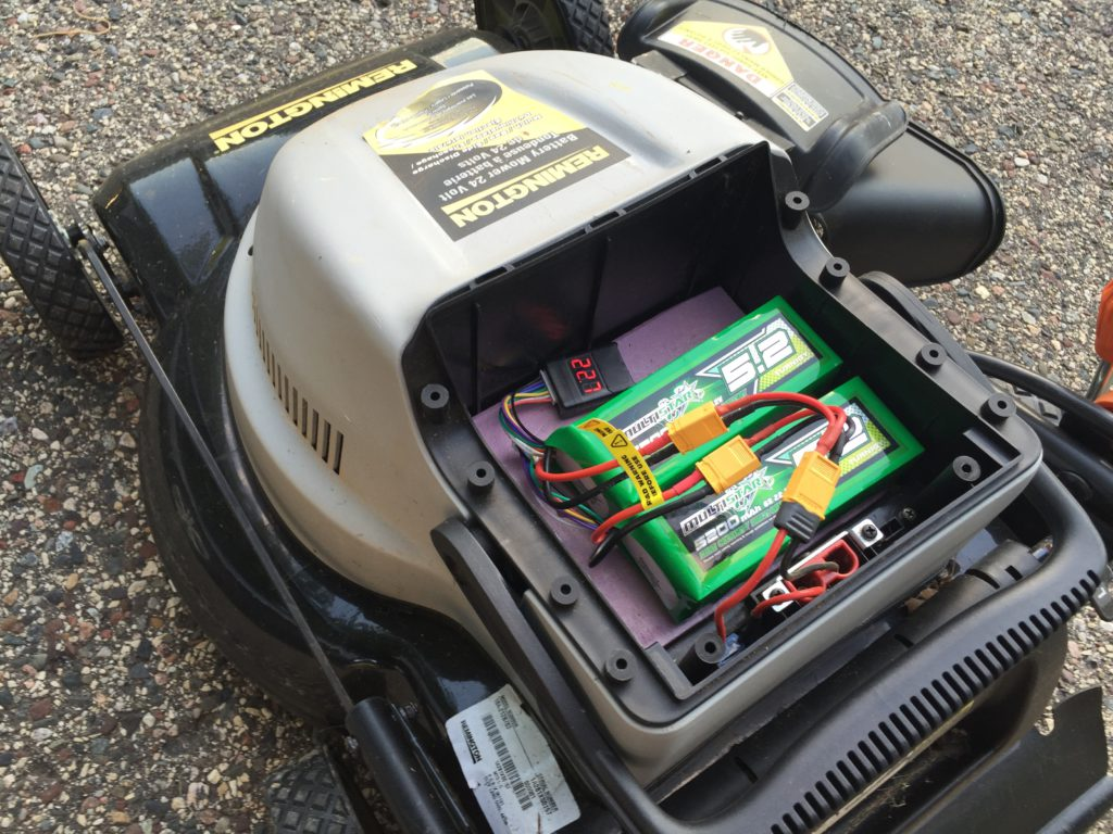 DIY lithium powered lawn mower Justin Foell