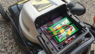 DIY lithium powered lawn mower
